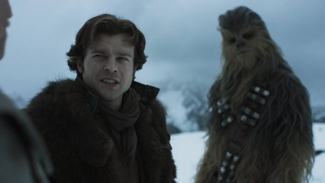 Alden Ehrenreich is never that convincing as Han Solo.