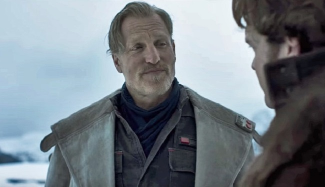 Woody Harrelson as the smuggler Tobias Beckett in Solo: A Star Wars Story.