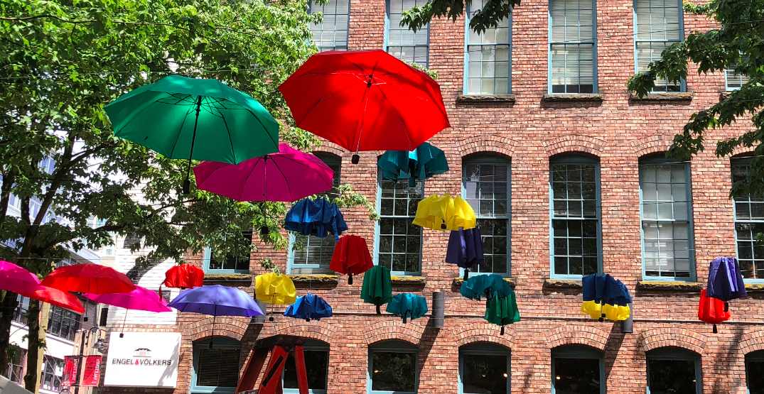 A new public art piece is currently being installed in Yaletown