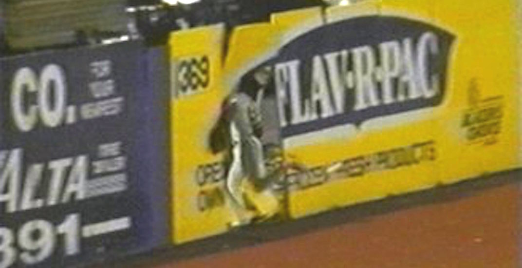 Vancouver Canadians player crashed through outfield wall in world-famous blooper in 1991 (VIDEO)