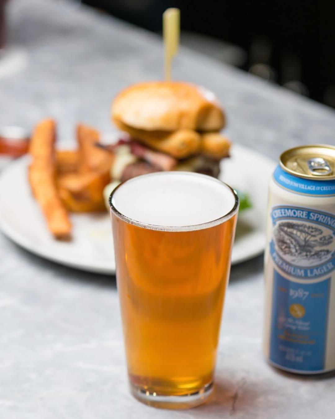 creemore beer burger
