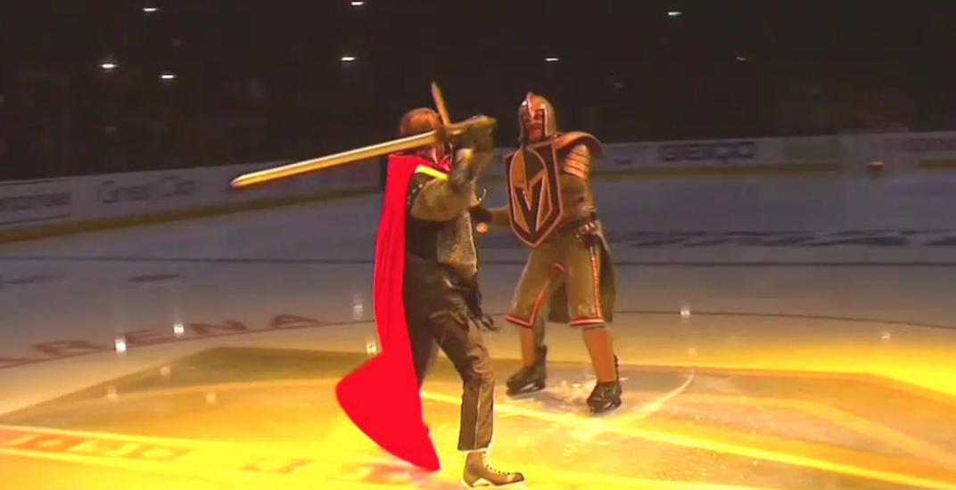 Vegas golden knights sword