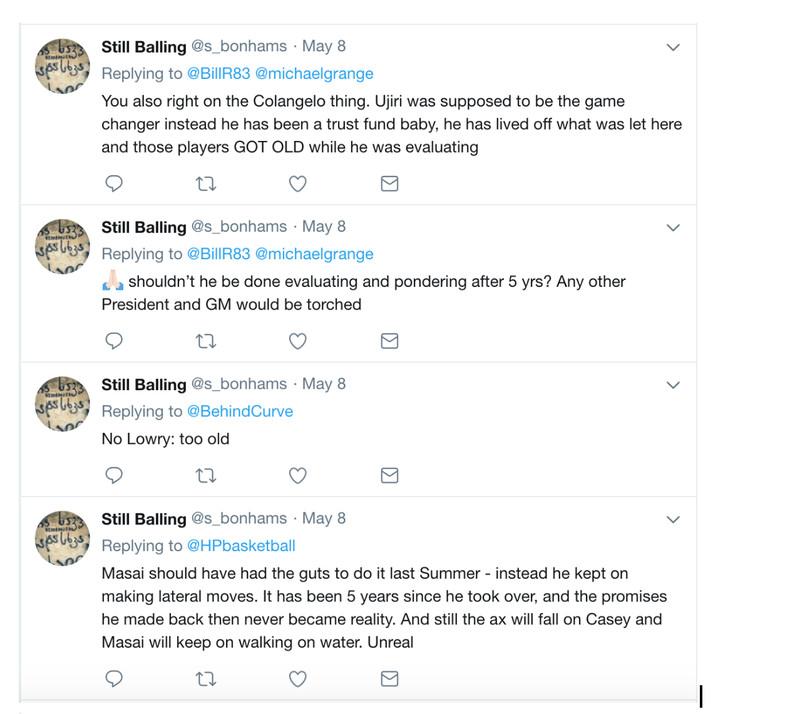 colangelo tweets ujiri raptors