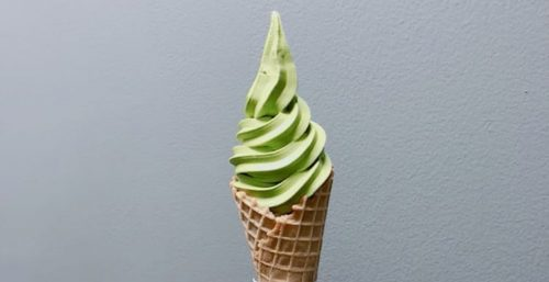 tendou matcha free ice cream