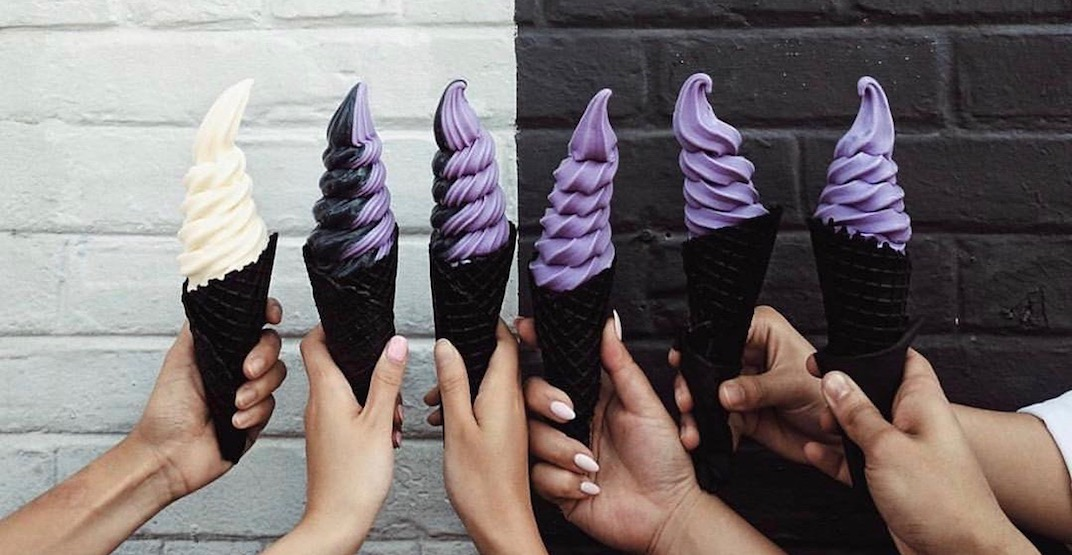 You can get FREE charcoal ice cream cones in Toronto tomorrow