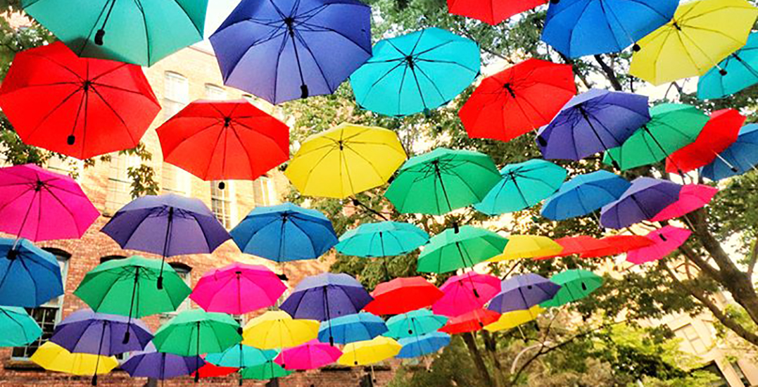 Vancouverites are going wild for these colourful umbrellas in Yaletown (PHOTOS)