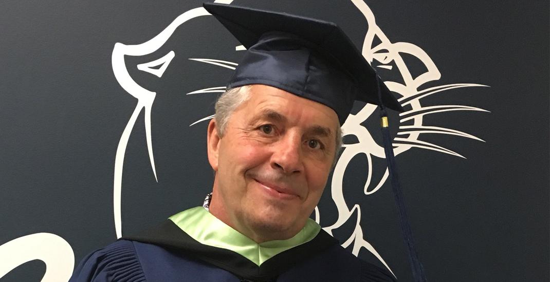 Bret 'The Hitman' Hart receives honorary degree from Mount Royal University