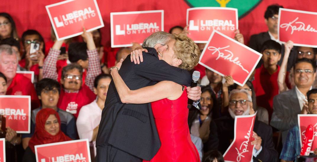 Kathleen Wynne admits defeat, urges voters to elect a minority NDP or PC government