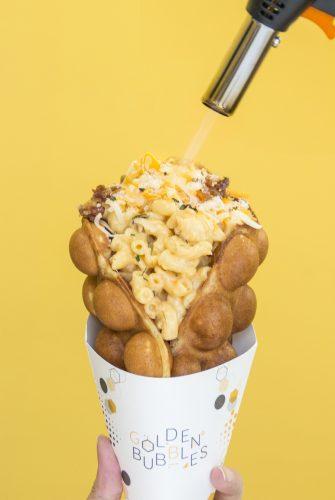 Mac and Cheese HK Waffle