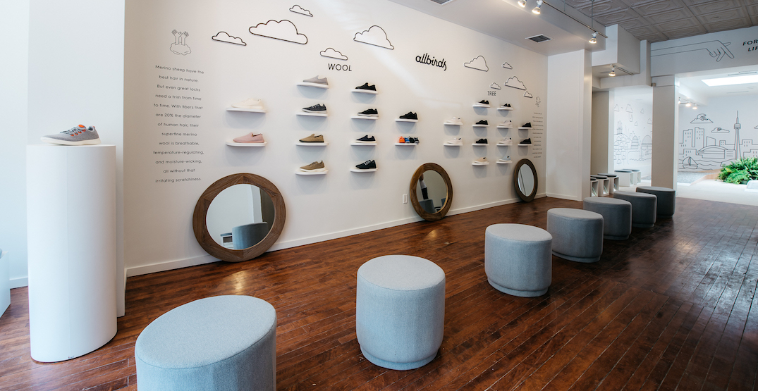 Allbirds brings 'world's most comfortable shoes' to Toronto in first global pop up