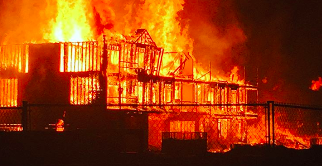 Massive fire destroyed multiple buildings in Cochrane this morning (VIDEO)