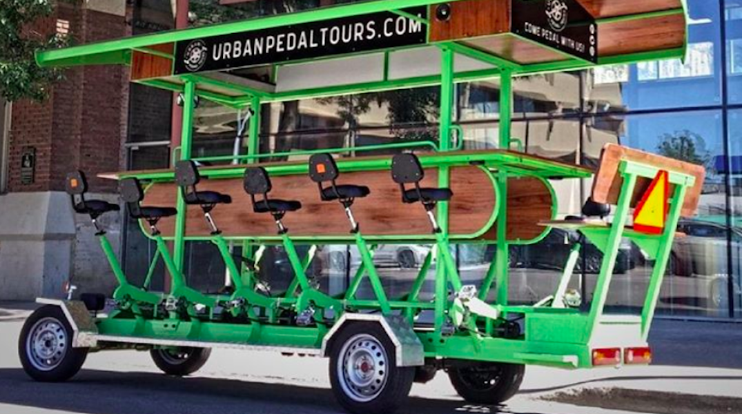 Take a 15-person bike ride with this epic brewery tour