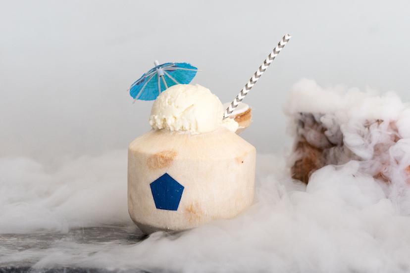 Mister Coconut Ice Cream Float