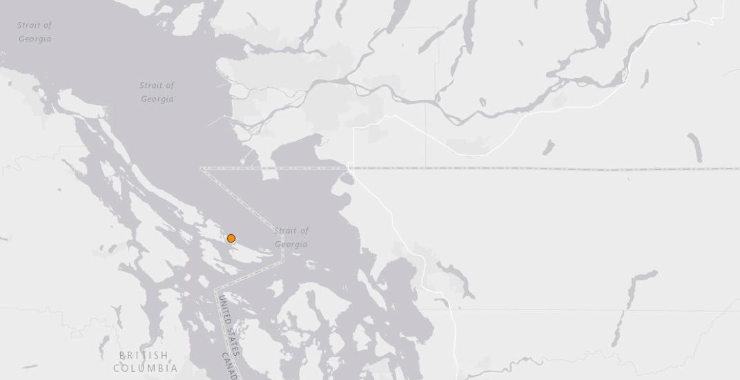 Magnitude 3.2 earthquake detected in the Strait of Georgia