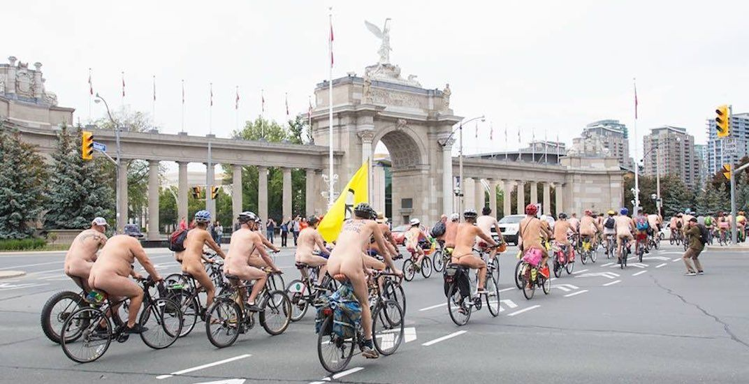The World Naked Bike Ride is returning to Toronto this weekend