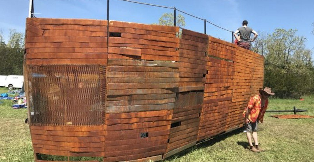 A 'Noah's Ark' style party boat is currently being built in Toronto