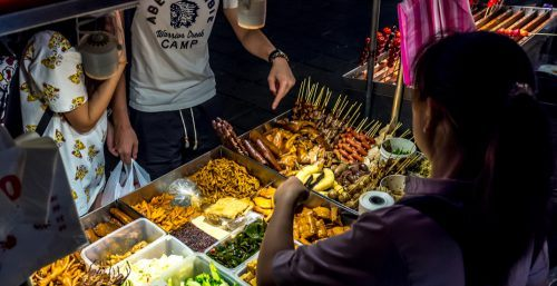 outdoor night market