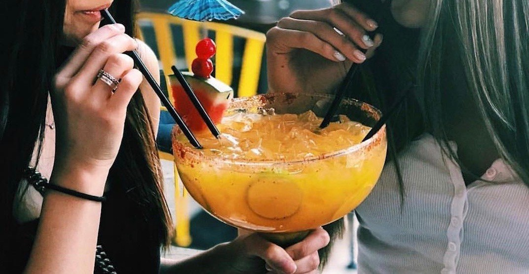 You can get GIANT boozy margaritas at this Calgary bar