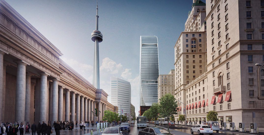A new $800 million office tower is being constructed in downtown Toronto