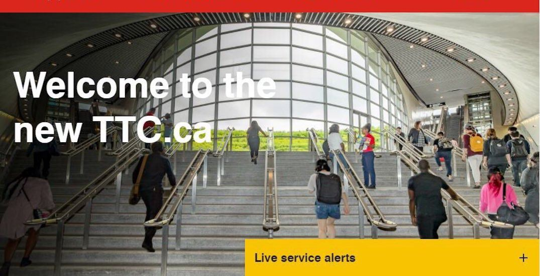Here's what the TTC's new website will look like (PHOTOS)