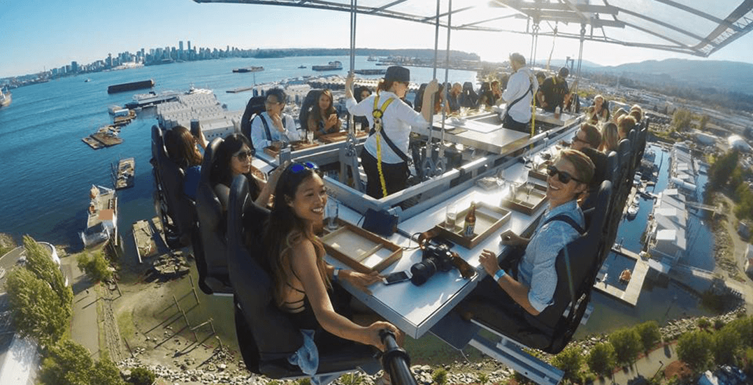 Dinner in the Sky Vancouver announces first 2018 dates and location