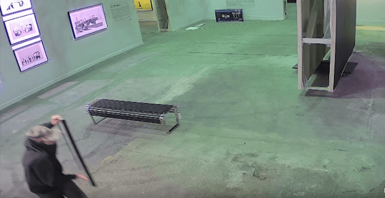 Toronto police release video of suspect stealing $45K Banksy artwork
