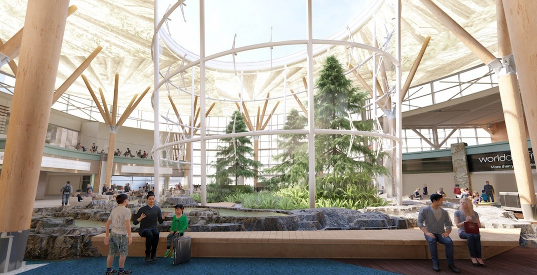 Vancouver international airport new terminal forest