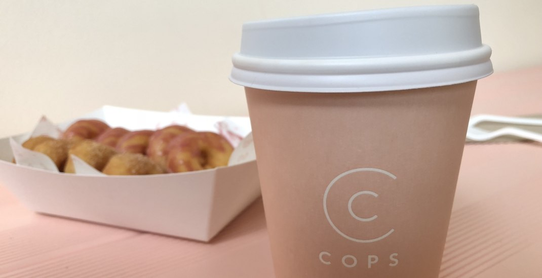You can only get drip coffee and mini doughnuts at this new cafe