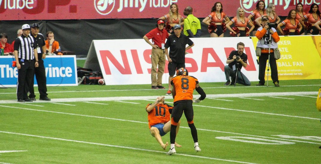 Pantsless BC Lions fan suffered brain injury, says lawyer