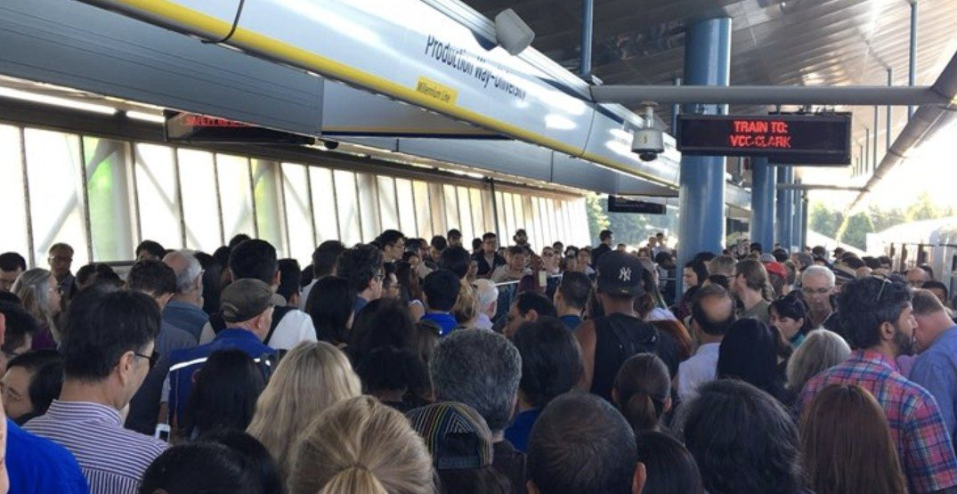 SkyTrain disruption delaying commute on Expo and Millennium Lines