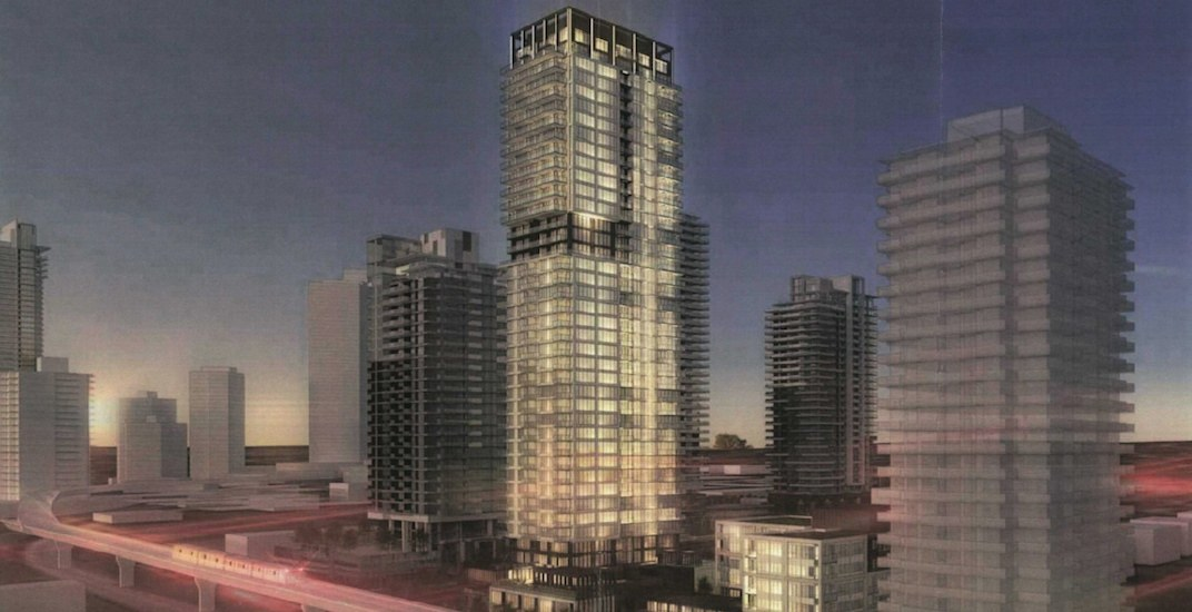 41-storey residential tower with rooftop lighting proposed for Burquitlam