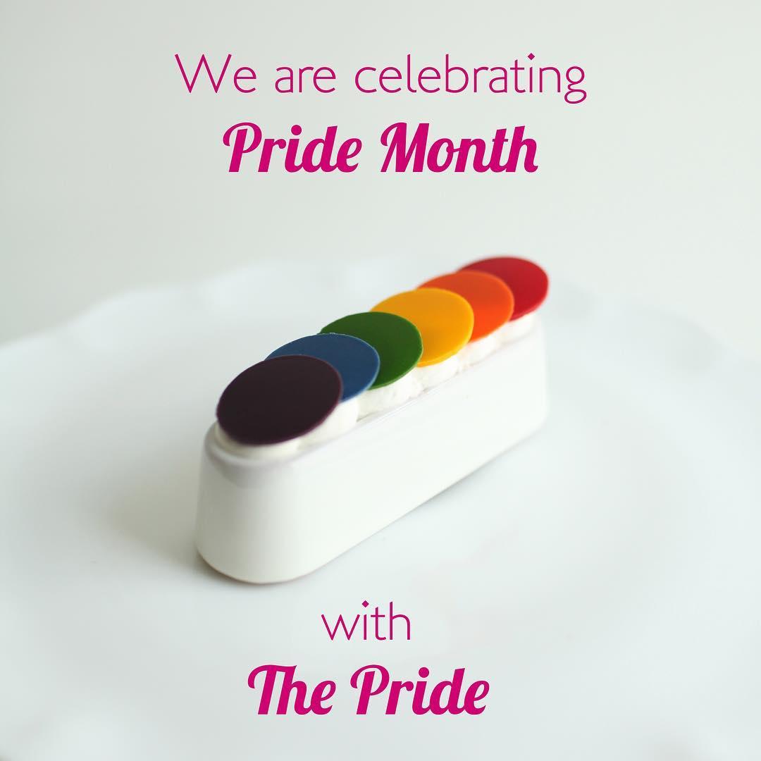 Nadège Patisserie pride rainbow