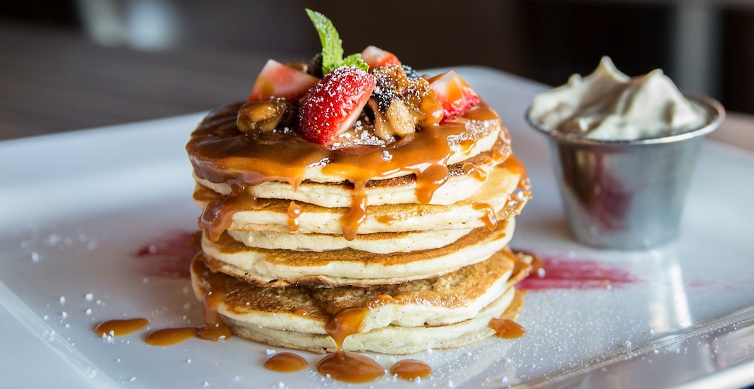 You can get all-you-can-eat pancakes all day long on Dundas Street West