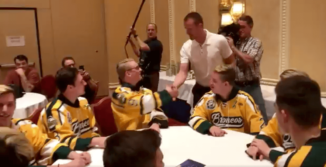 Sedins meet Humboldt Broncos survivors in Vegas (VIDEO)