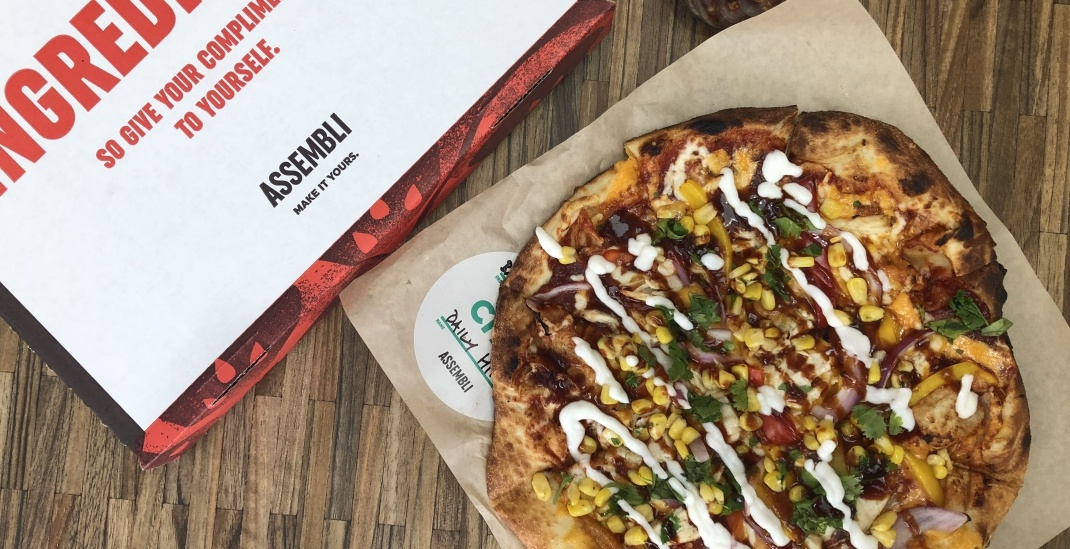 Pick from over 50 toppings for one price at Toronto's newest pizza and salad spot