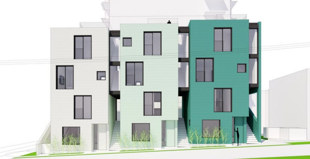 Unique laneway townhouses proposed for downtown Vancouver's West End