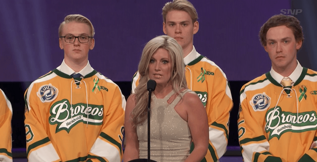 Humboldt Broncos coach honoured as 'Community Hero' at NHL Awards (VIDEO)