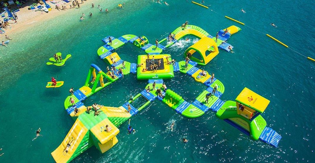 Make a splash at Alberta's giant aquatic obstacle course this June