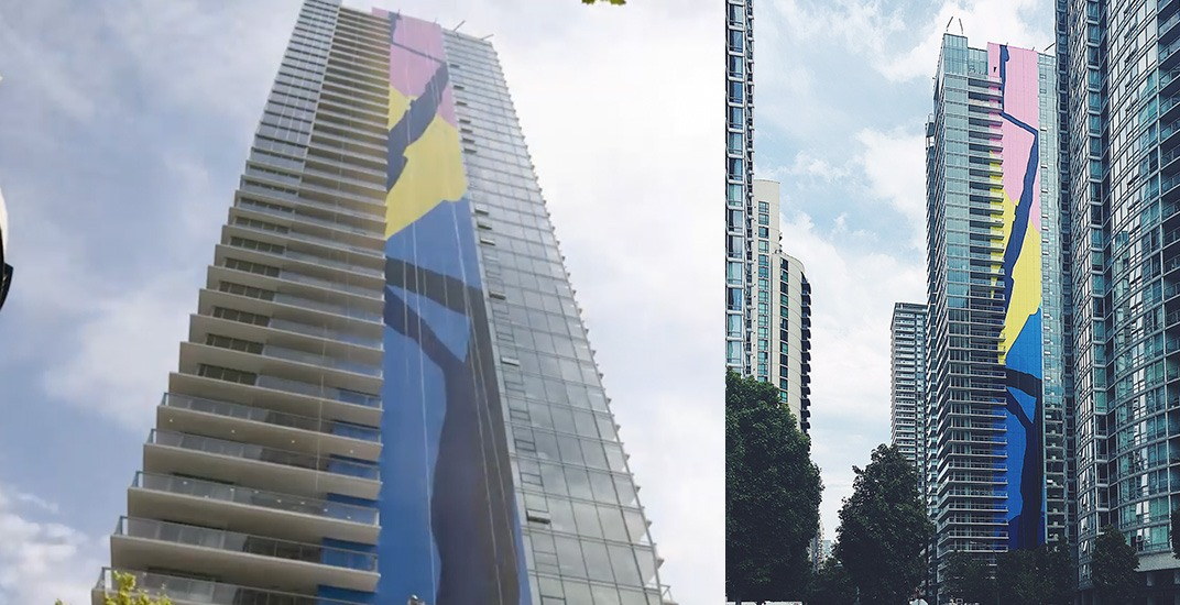 New 416-ft-tall mural now a part of downtown Vancouver's skyline