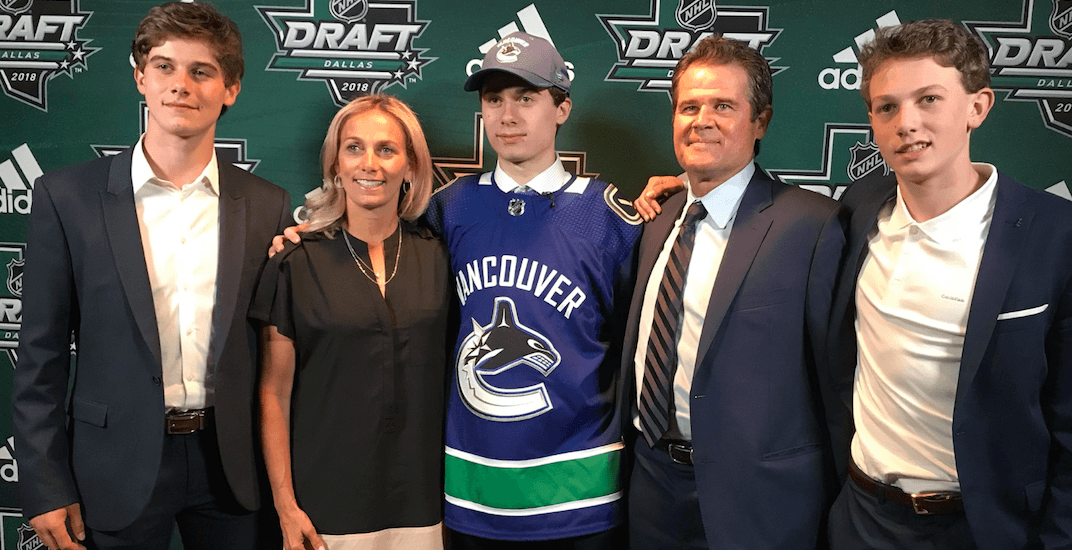 New Canucks draft pick Quinn Hughes comes from a remarkable hockey family