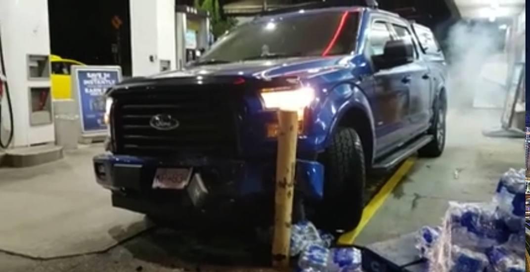 Vancouver gas station crash june 2018
