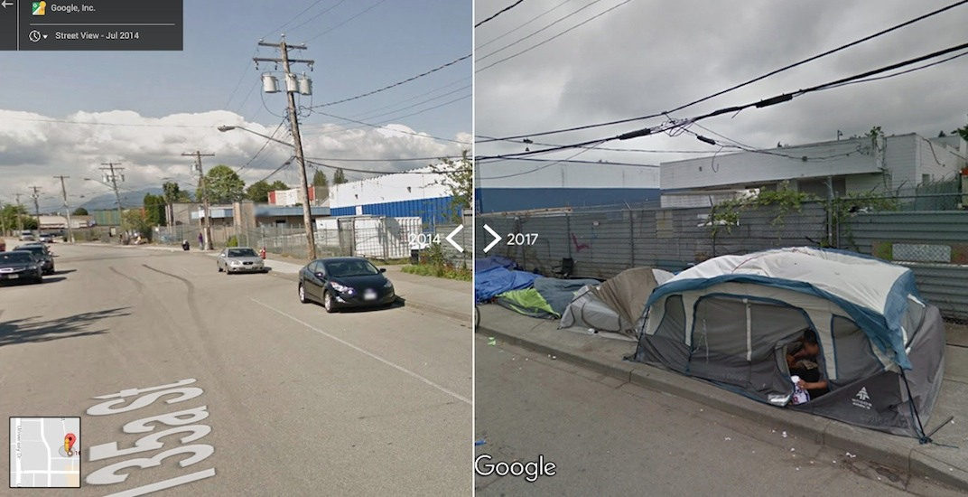 Google Street View comparisons show Vancouver's growing homelessness (PHOTOS)