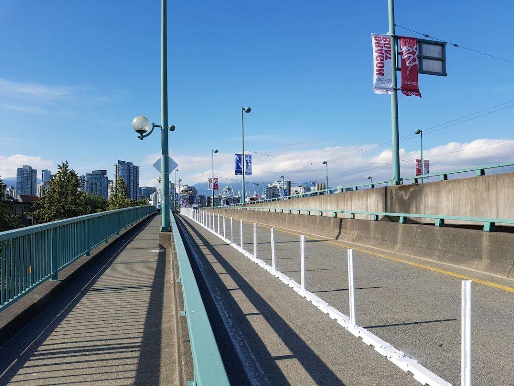 Cambie Street Bridge bike lane