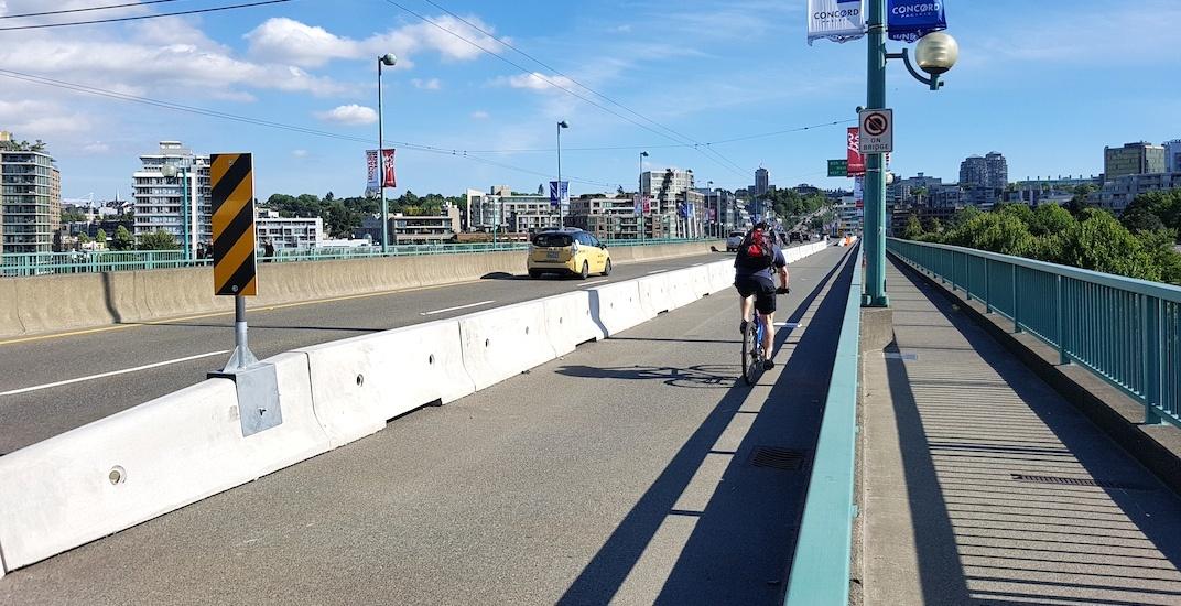 Cambie bridge bike lane vancouver june 2018 3