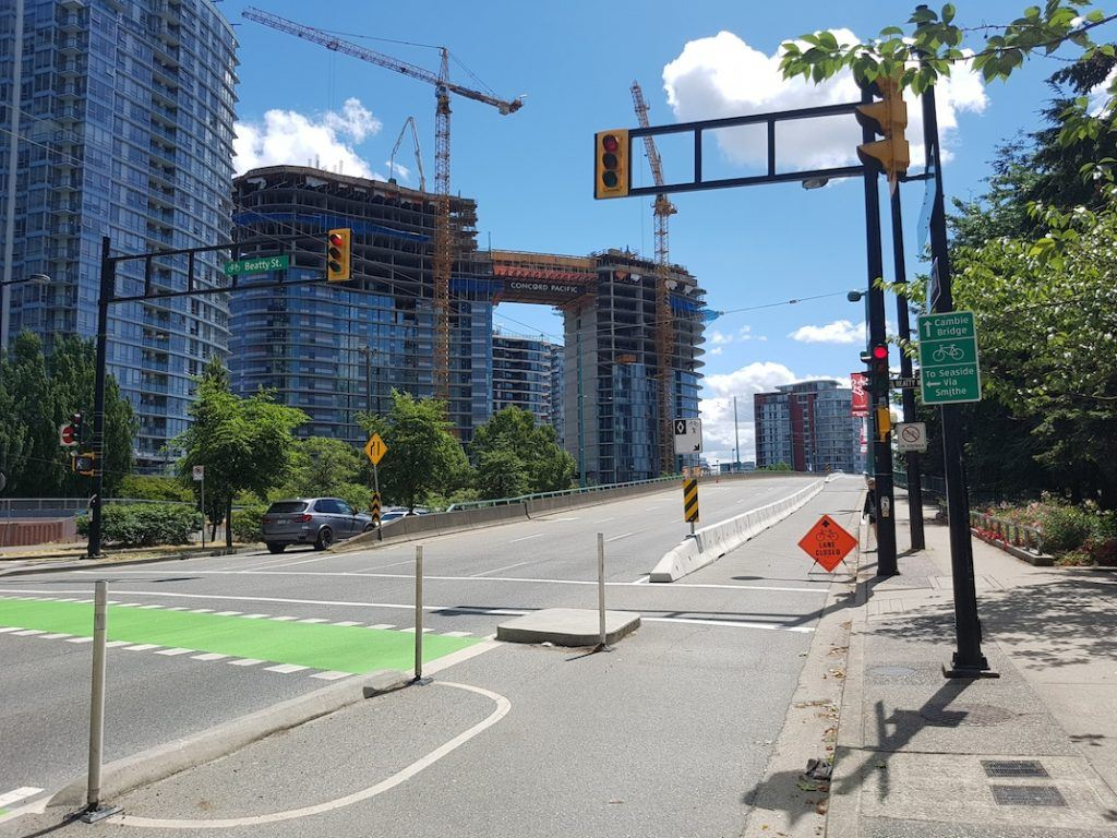 Cambie Street Bridge bike lane