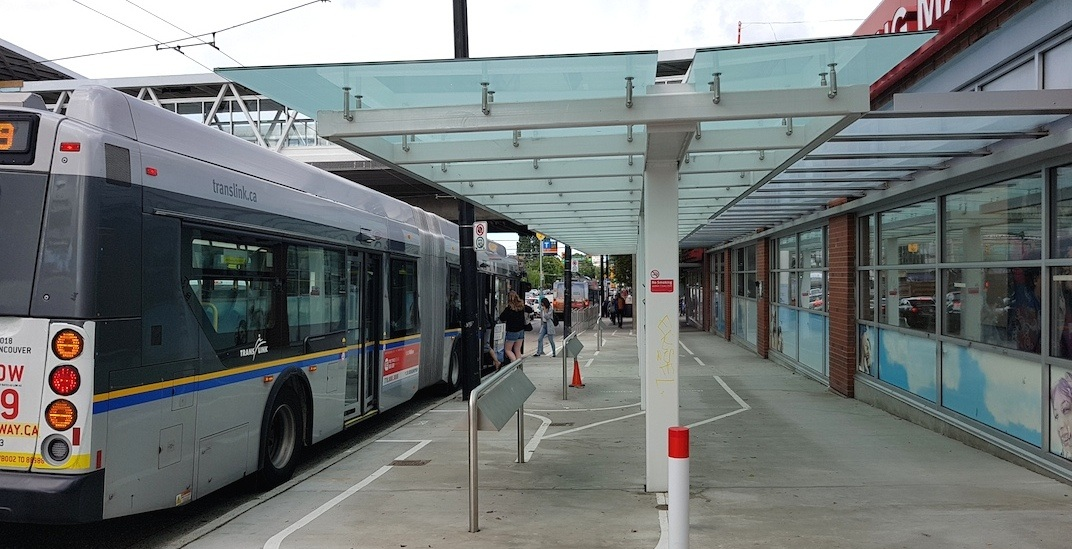 99 b line bus shelter commercial broadway f
