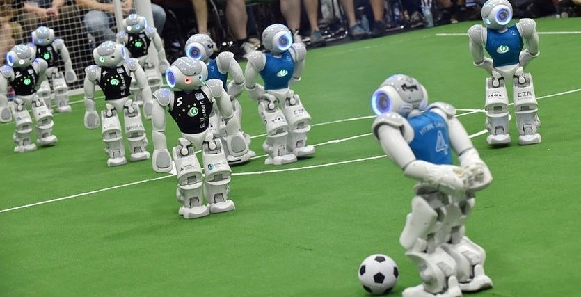 Montreal just hosted an all robot soccer tournament
