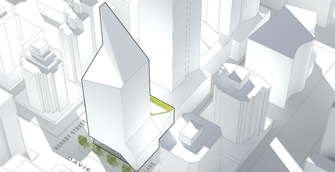 300-ft-tall, quartz-shaped white tower proposed for downtown Vancouver