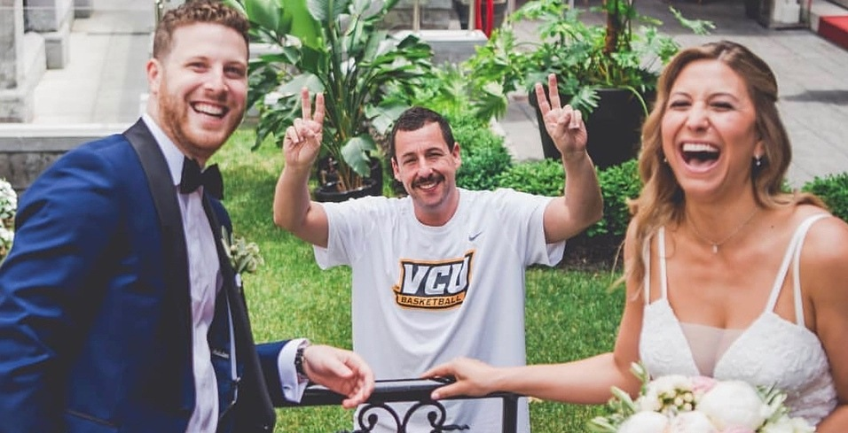 Adam Sandler crashed a wedding in downtown Montreal