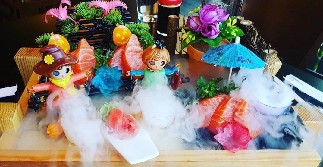 Here's where you can get this outrageous 'smoking sushi' in Vancouver